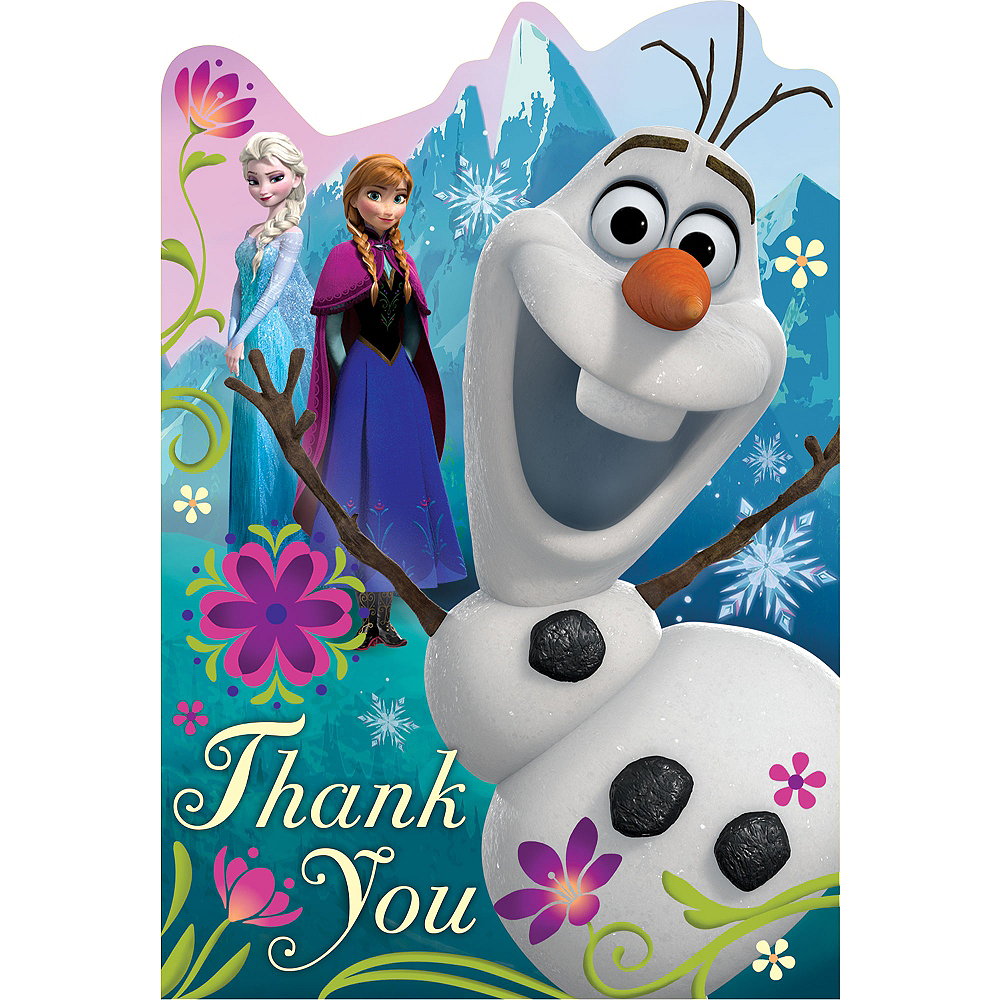 Frozen Thank You Notes 8ct Image #1