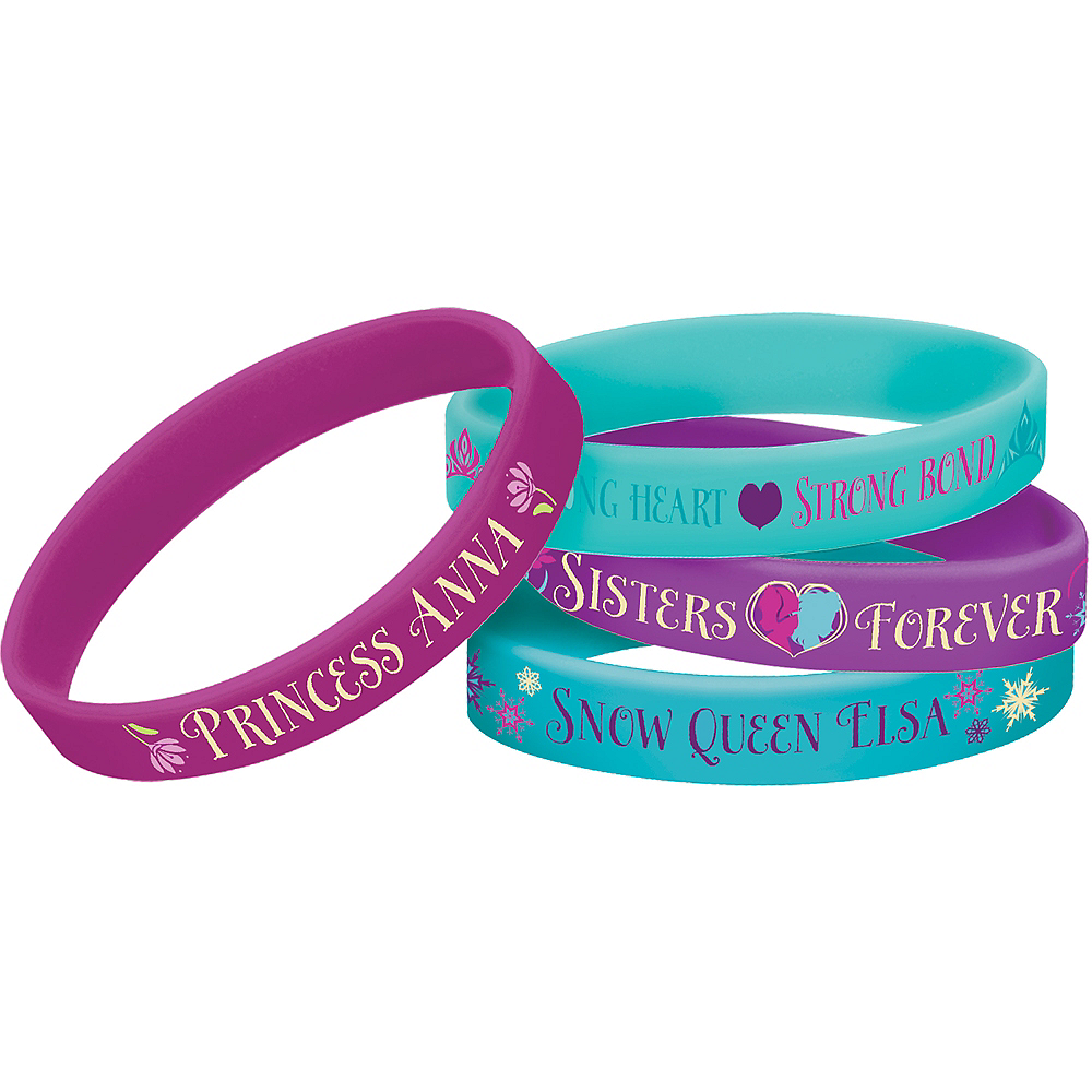 Frozen Wristbands 4ct Image #1