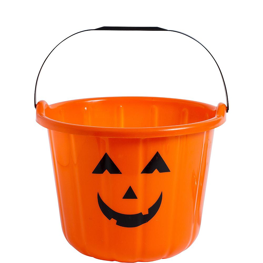 Orange Jack-o'-Lantern Treat Bucket Image #1