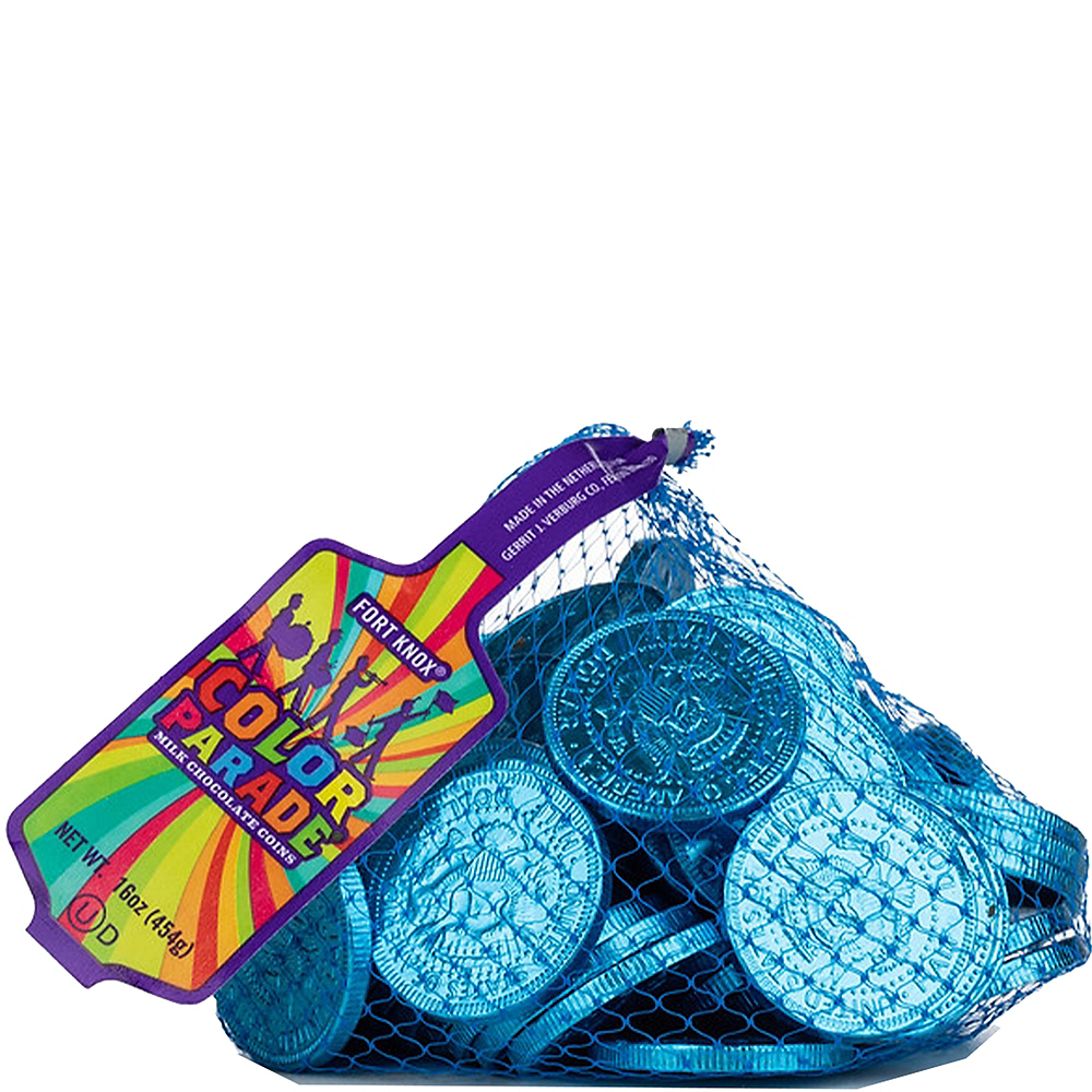 Caribbean Blue Chocolate Coins 72pc Image #1
