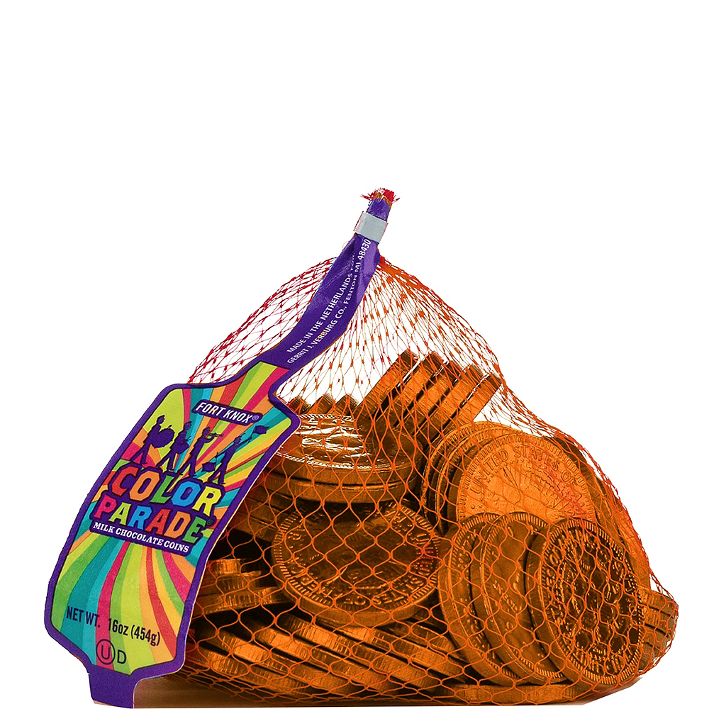 Orange Chocolate Coins 72pc Image #1