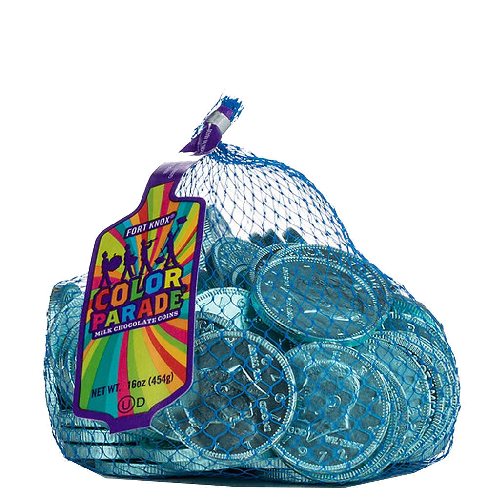 Robin's Egg Blue Chocolate Coins 72pc Image #1