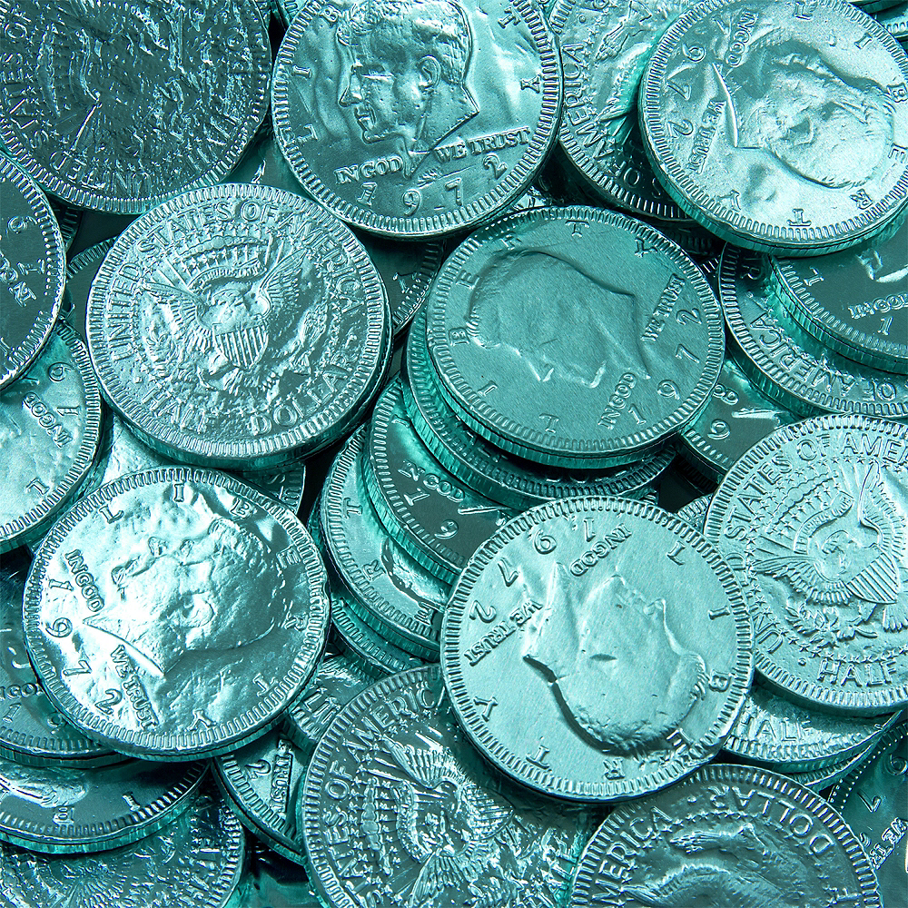 Robin's Egg Blue Chocolate Coins 72pc Image #2
