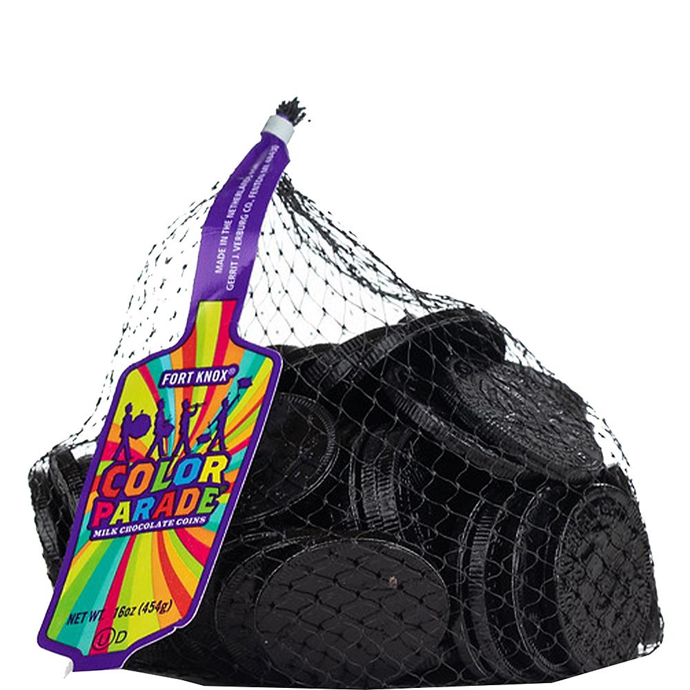 Black Chocolate Coins 72pc Image #1
