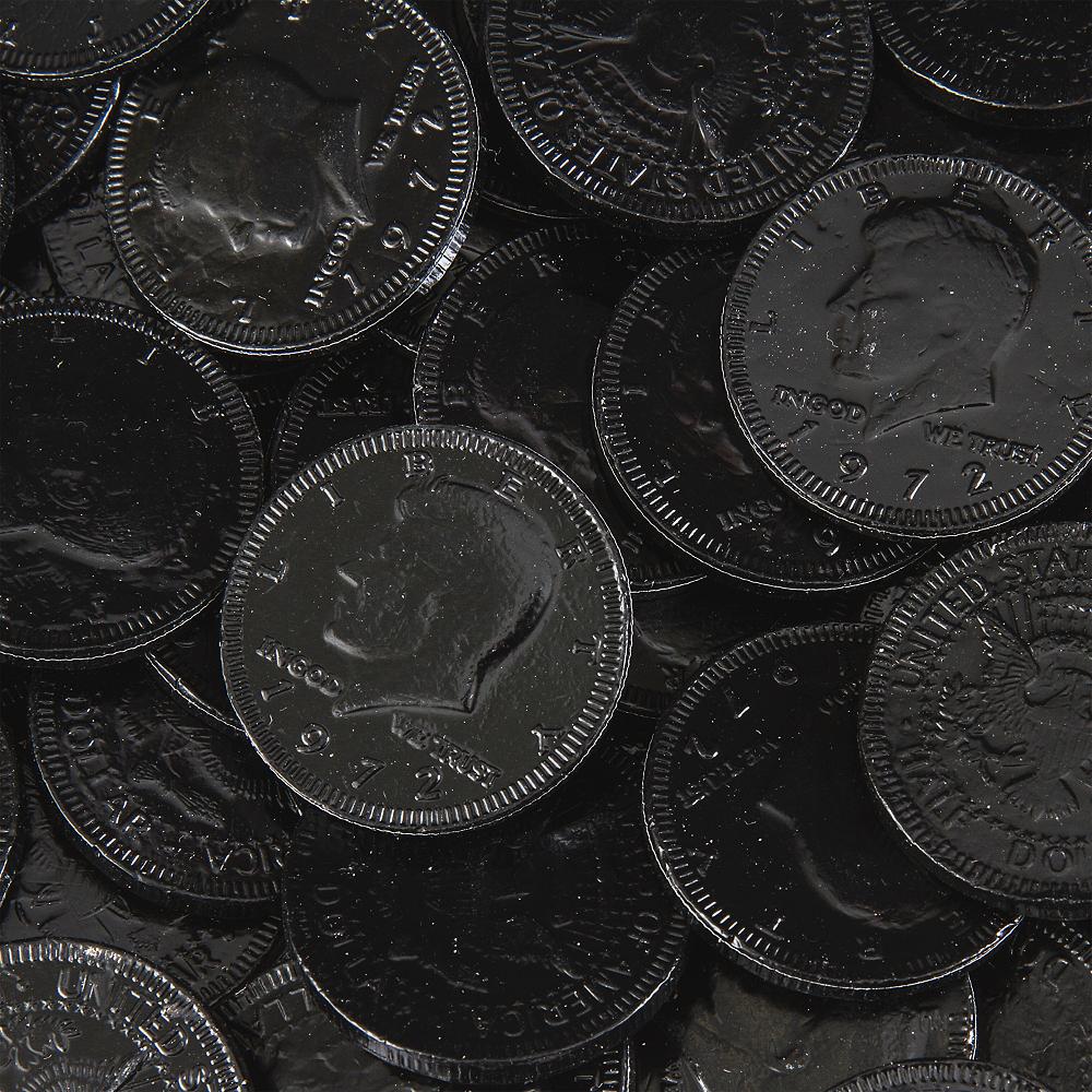 Black Chocolate Coins 72pc Image #2