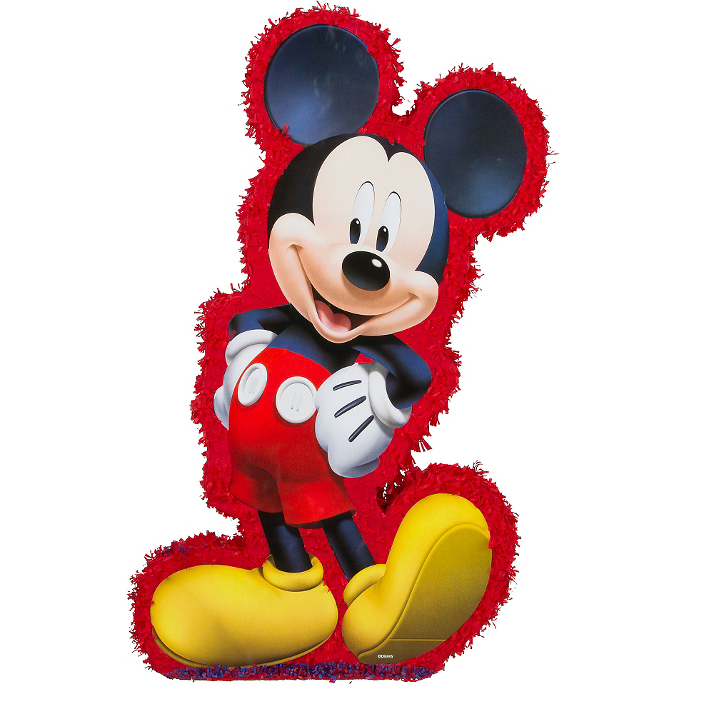 Red Mickey Mouse Pinata 37 1 4in X 21in X 4 3 4in Party City