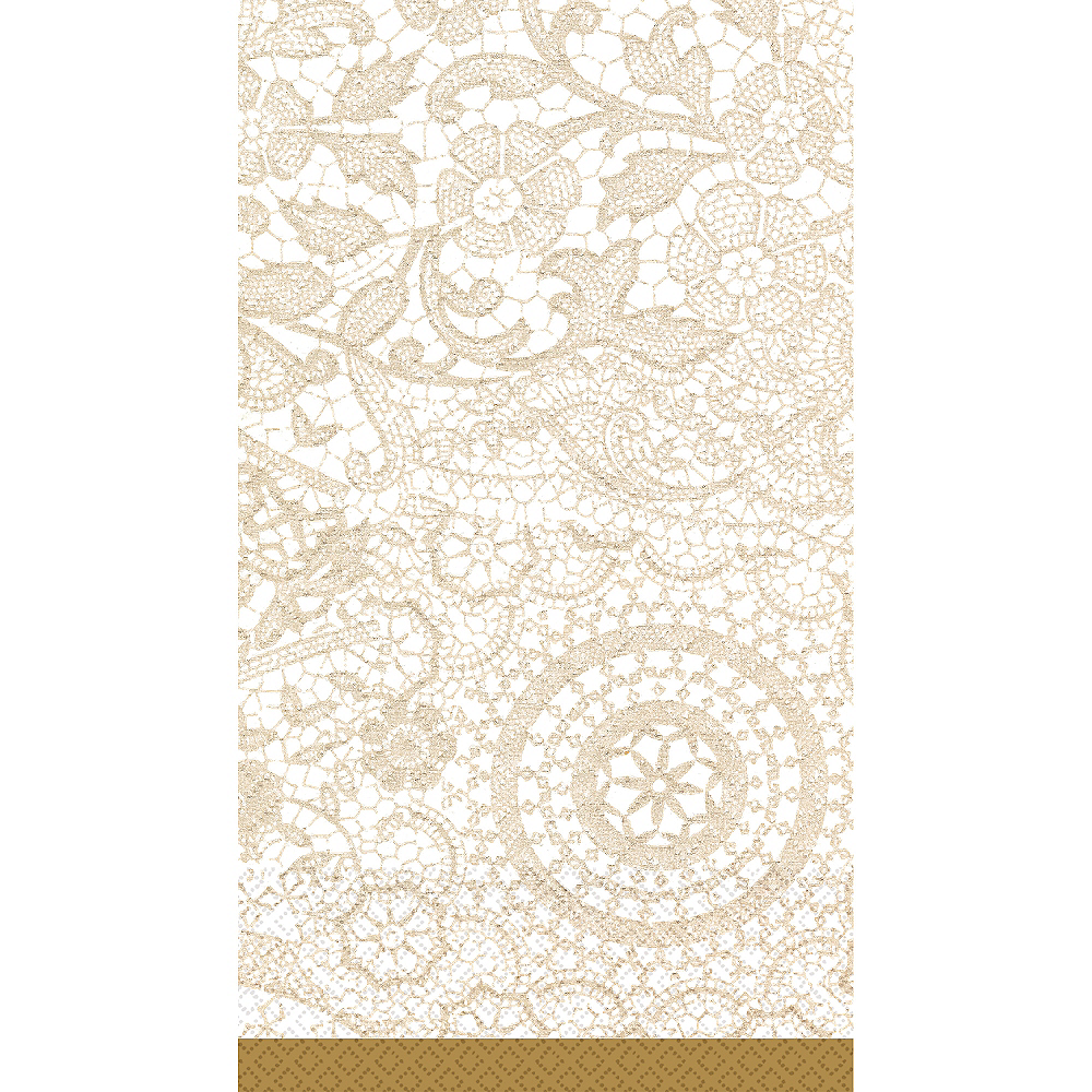 Nav Item for Delicate Lace Guest Towels 16ct Image #1