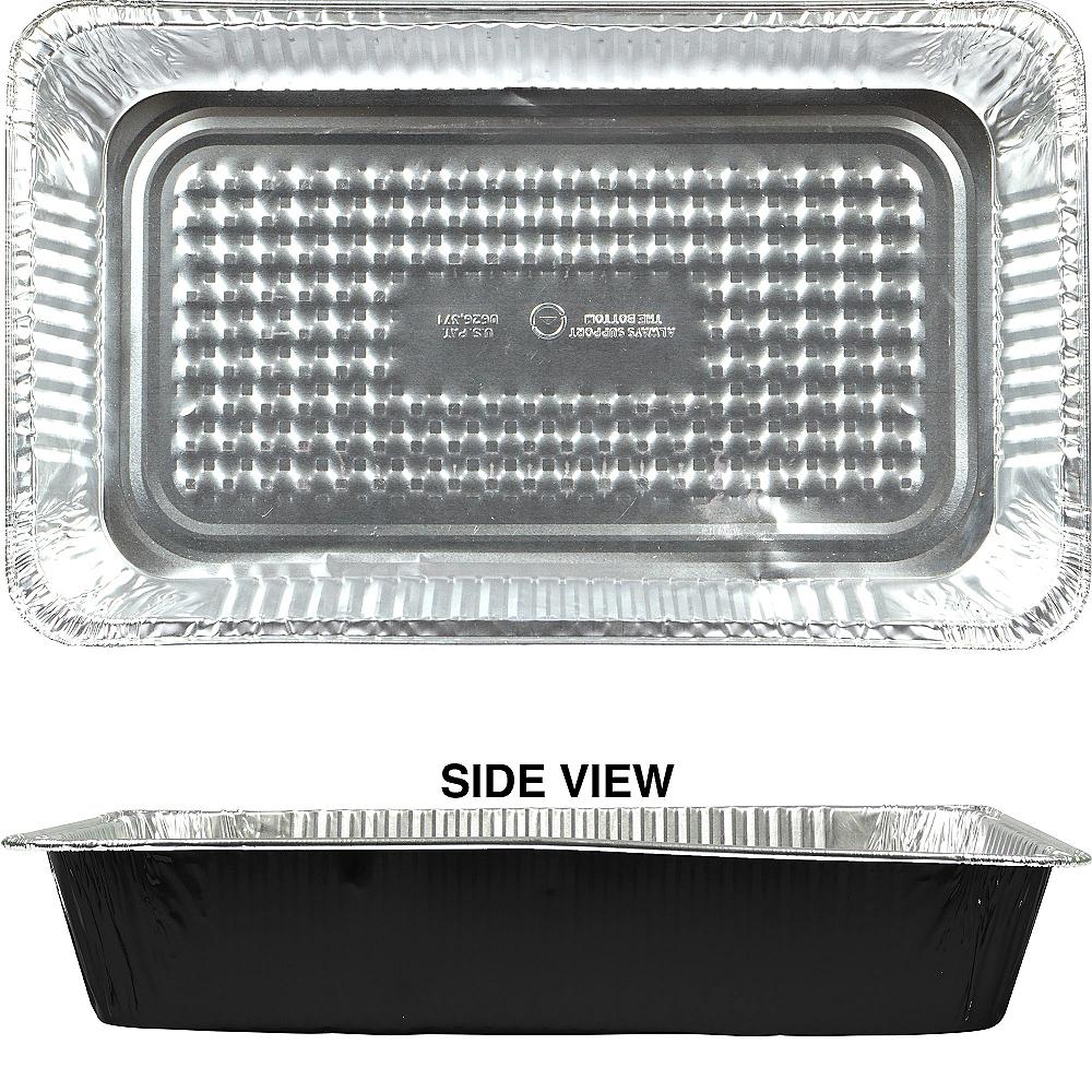 Black Aluminum Full Chafing Dish Steam Pan Image #1