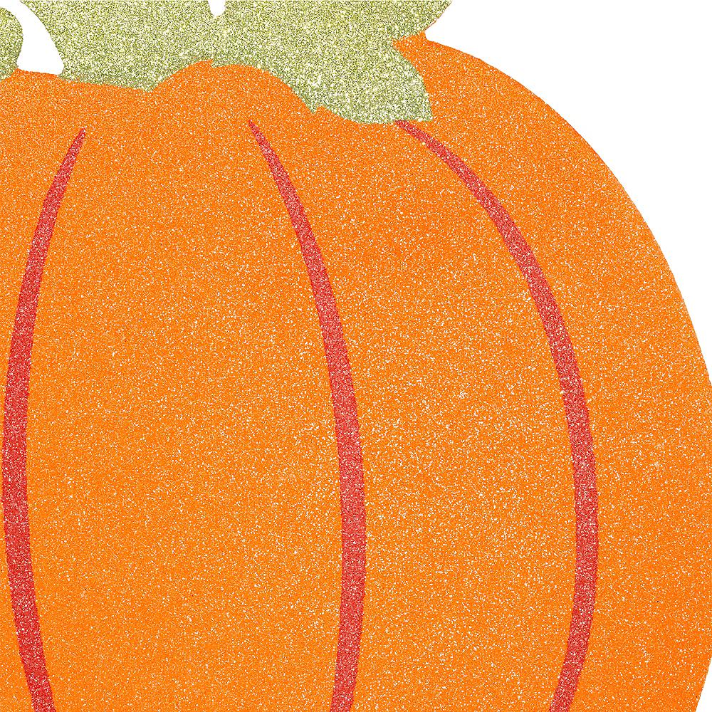 Glitter Pumpkin Sign Image #2