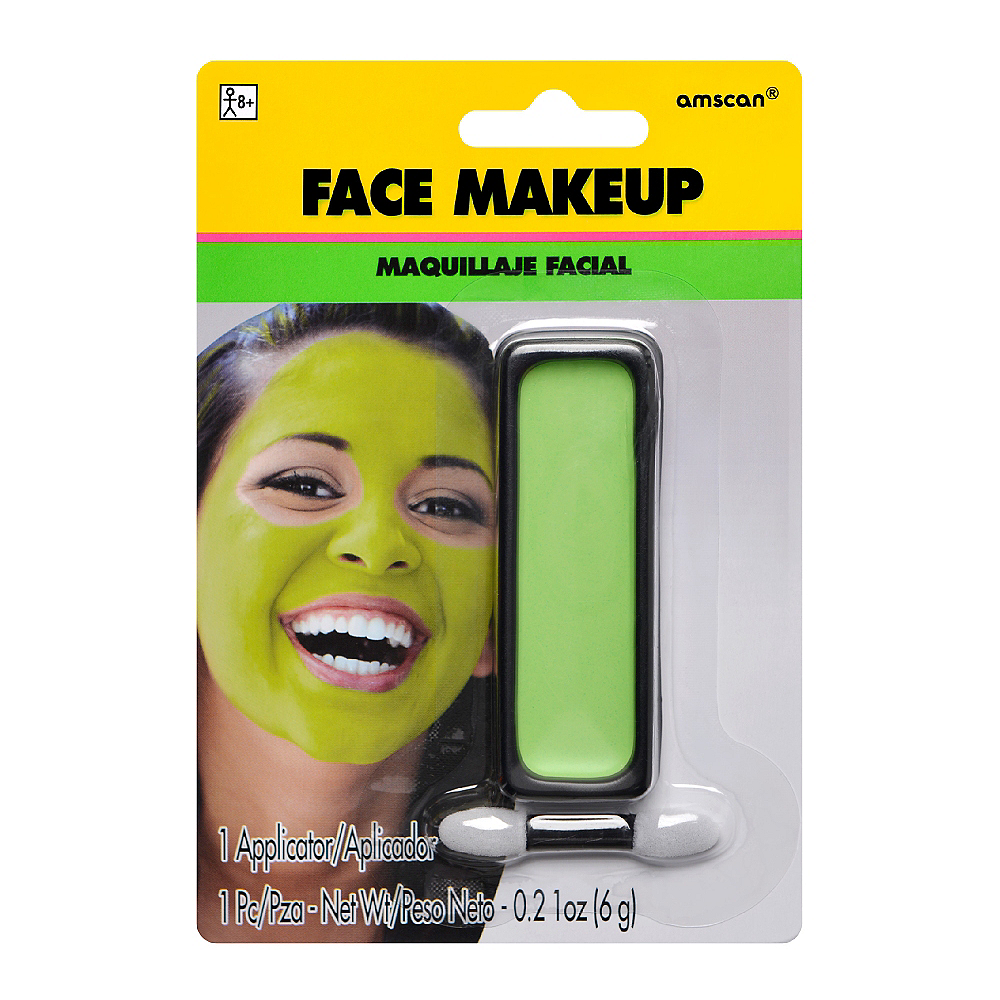 Neon Green Face Paint Makeup Image #1