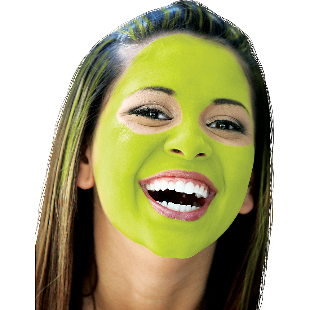 Neon Green Face Paint Makeup Image #2
