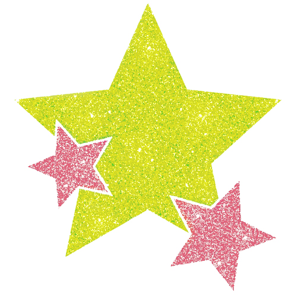 Black Light Neon Pink & Green Star Body Jewelry Image #1