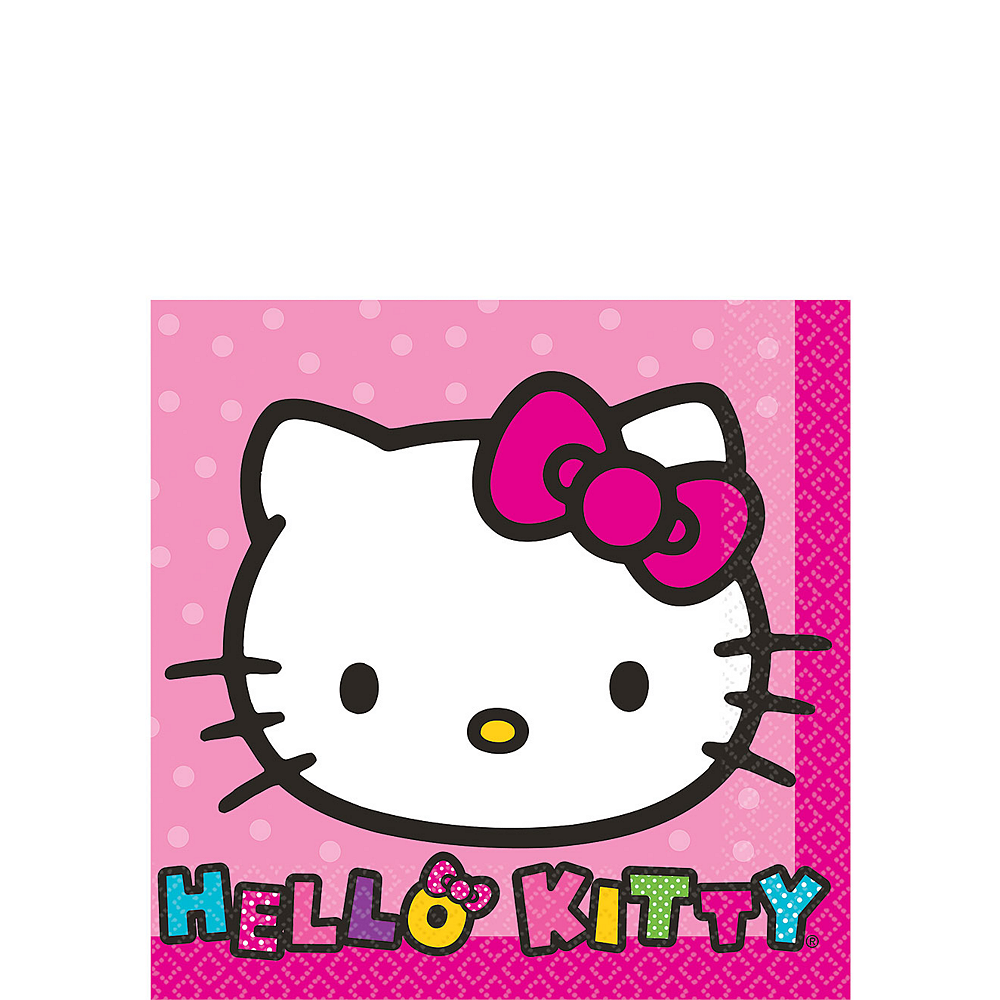 Rainbow Hello Kitty Beverage Napkins 16ct Image #1