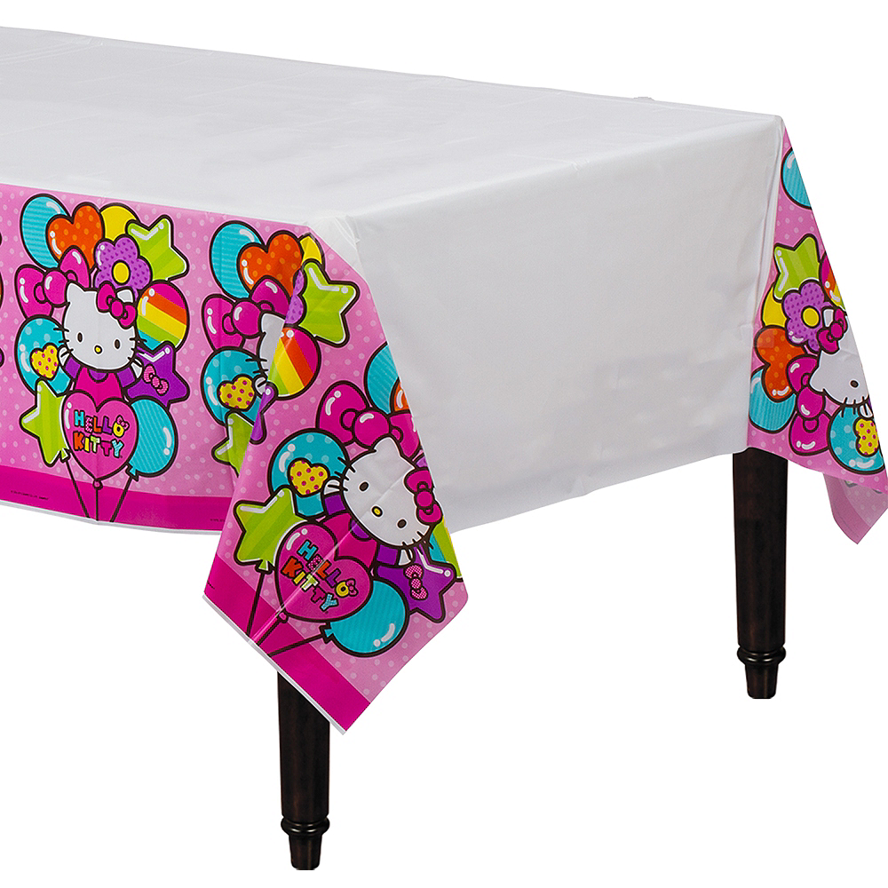 Rainbow Hello Kitty Table Cover Image #1