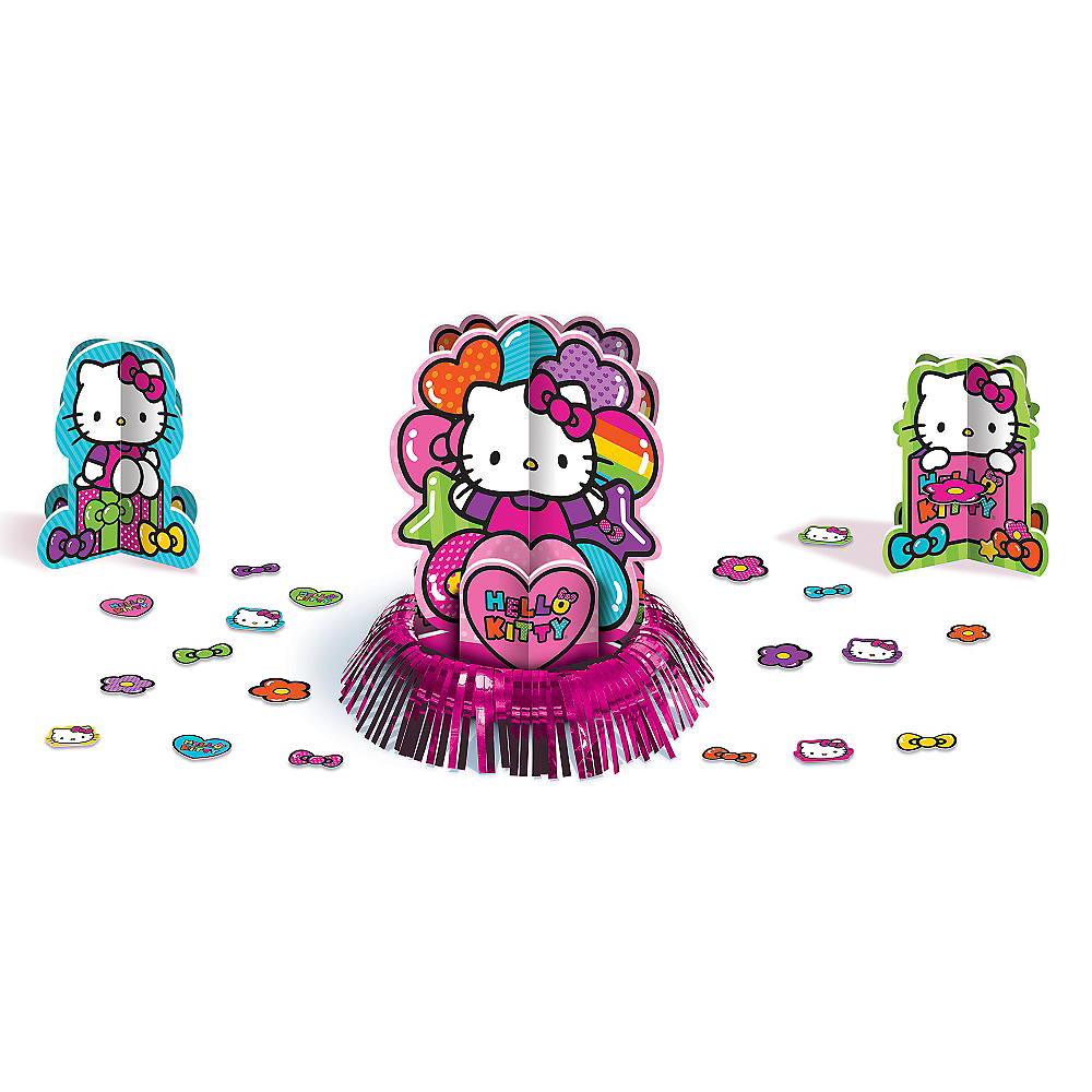 Nav Item for Rainbow Hello Kitty Table Decorating Kit 23pc Image #1
