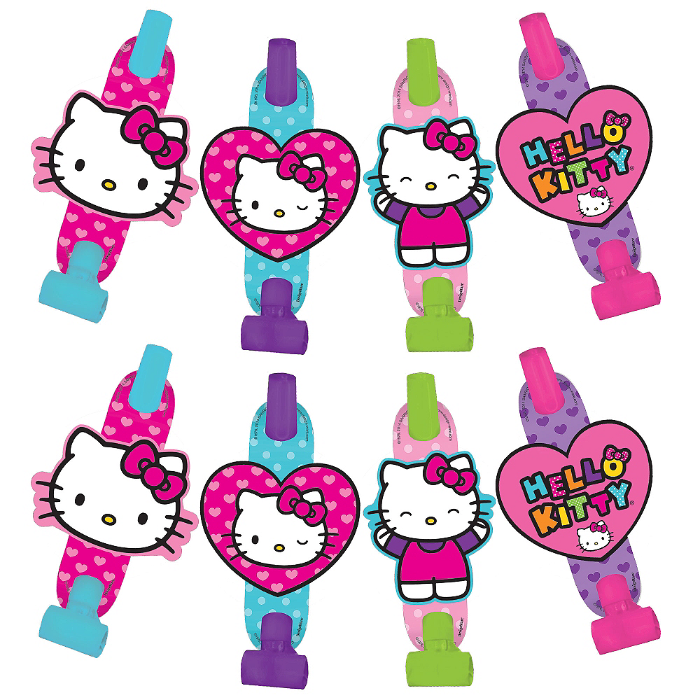 Rainbow Hello Kitty Blowouts 8ct Image #1