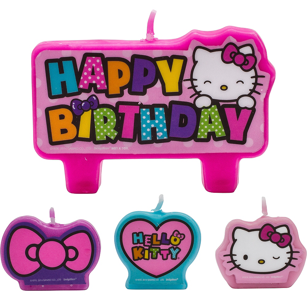 Rainbow Hello Kitty Birthday Candles 4ct   Party City 339c291f7f