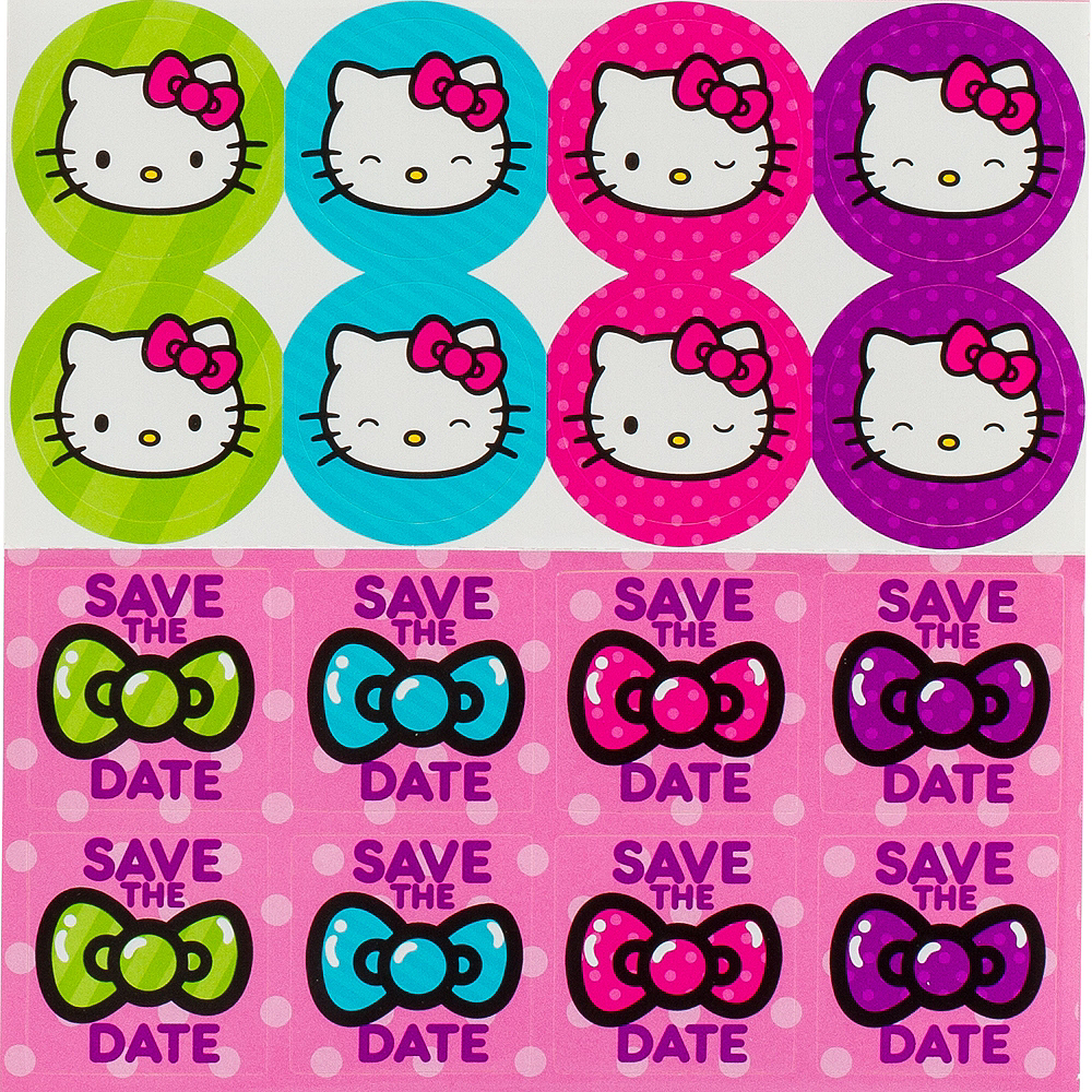 Rainbow Hello Kitty Invitations 8ct Image #3