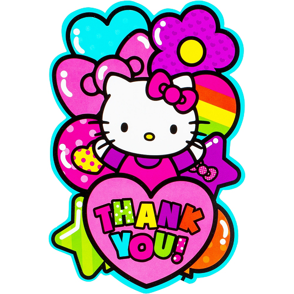 Rainbow Hello Kitty Thank You Notes 8ct  Image #1