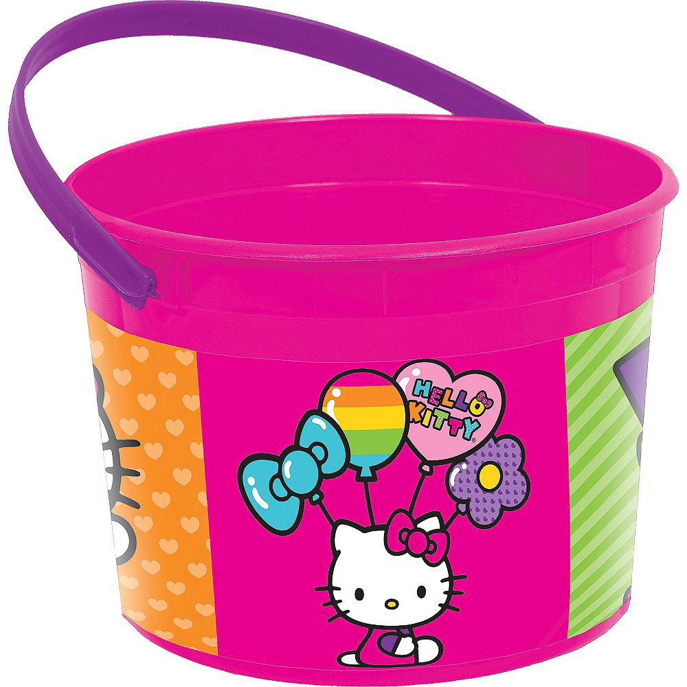 Rainbow Hello Kitty Favor Container Image #1