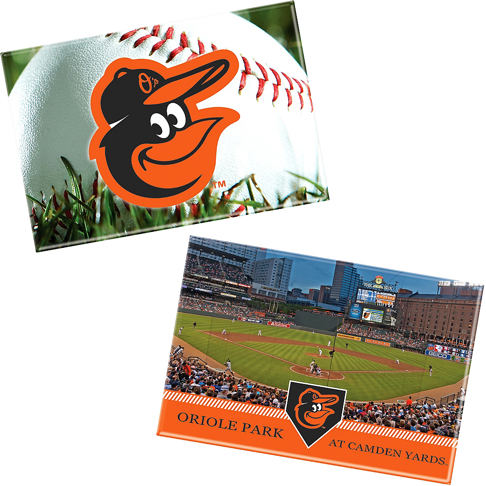 Baltimore Orioles Magnets 2ct Image #1
