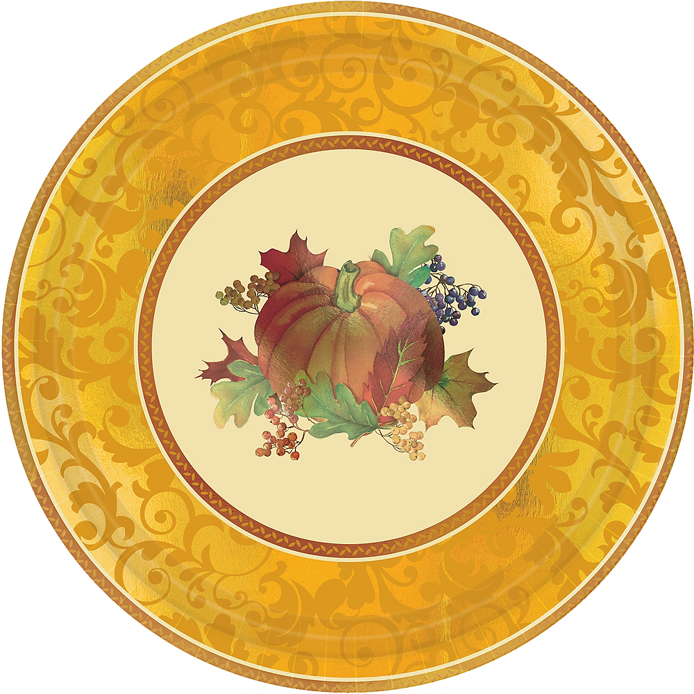 Bountiful Holiday Dinner Plates 8ct Image #1