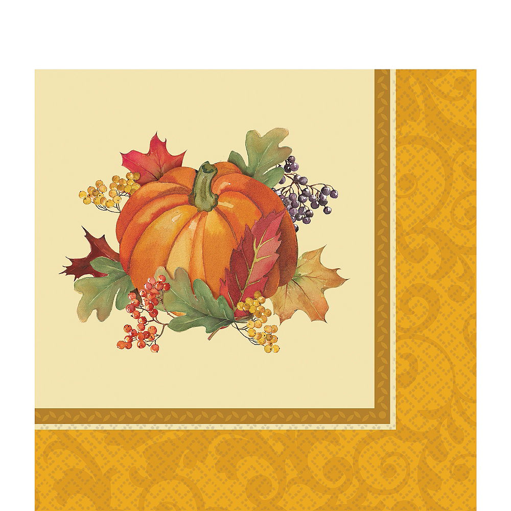 Bountiful Holiday Lunch Napkins 16ct Image #1