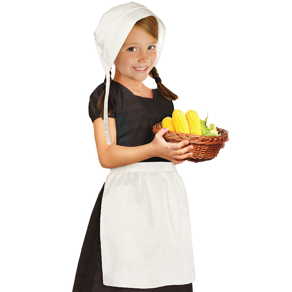 Nav Item for Child Pilgrim Bonnet & Apron Set Image #1