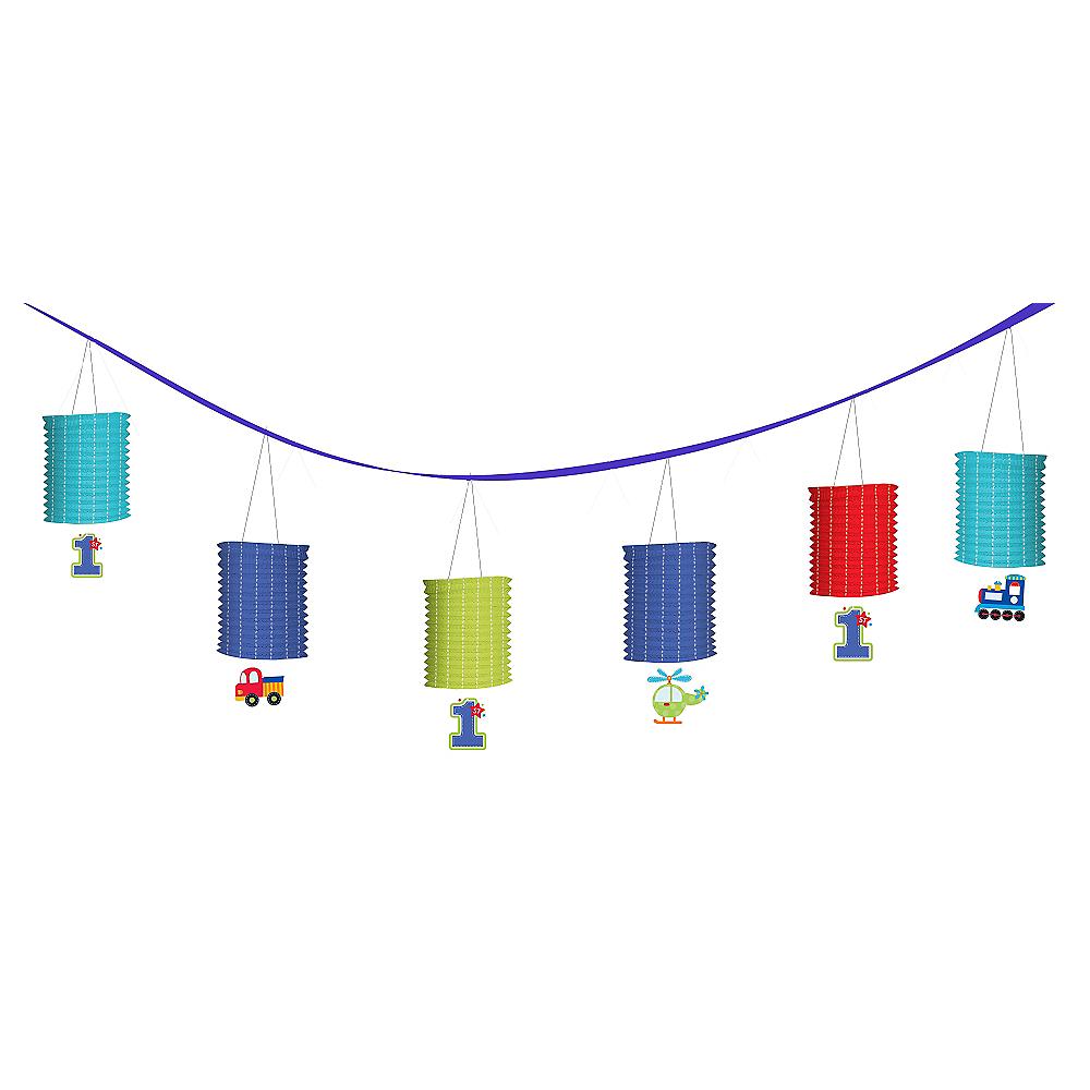 All Aboard 1st Birthday Paper Lanterns Garland Image #1