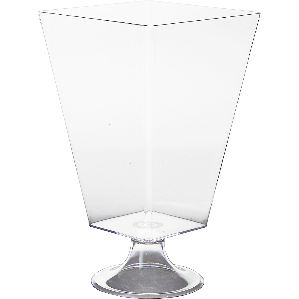 CLEAR Plastic Pedestal Container Image #1