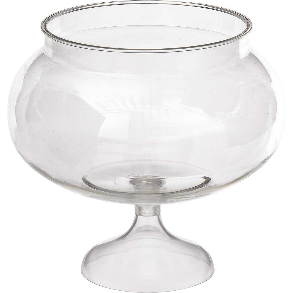 Nav Item for CLEAR Plastic Pedestal Bowl Image #1