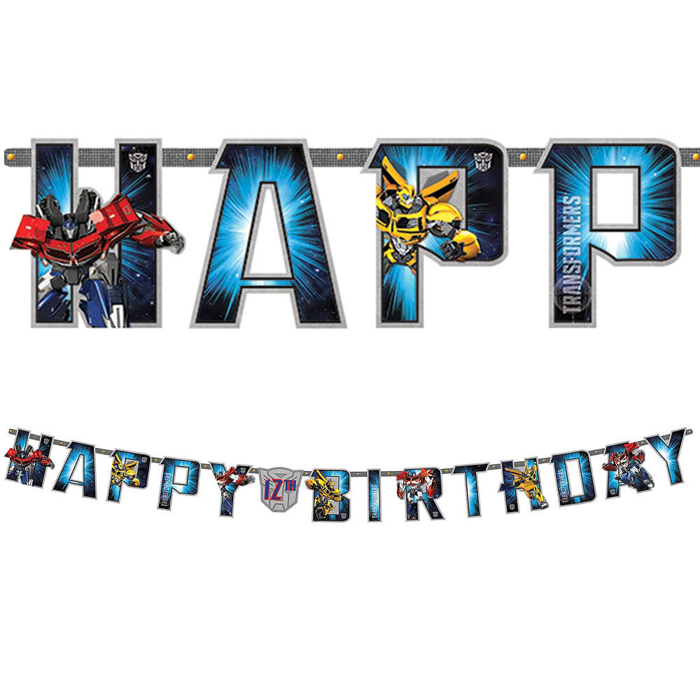 Transformers Birthday Banner Image #1