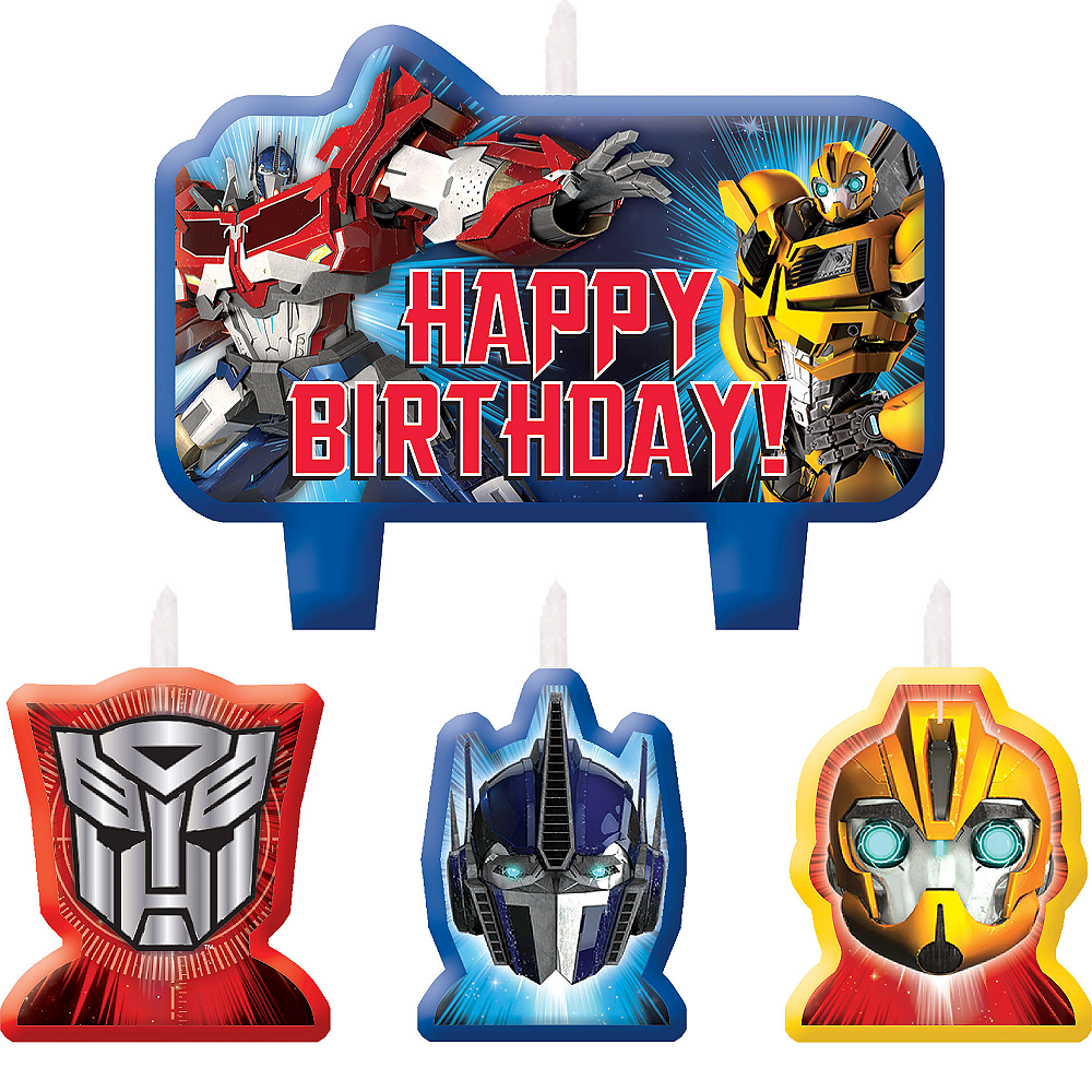 Transformers Birthday Candles 4ct Image 1
