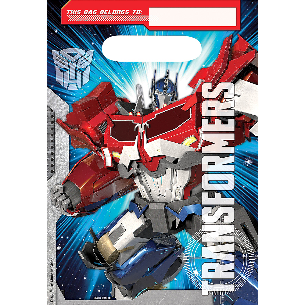 Transformers Favor Bags 8ct Image #1