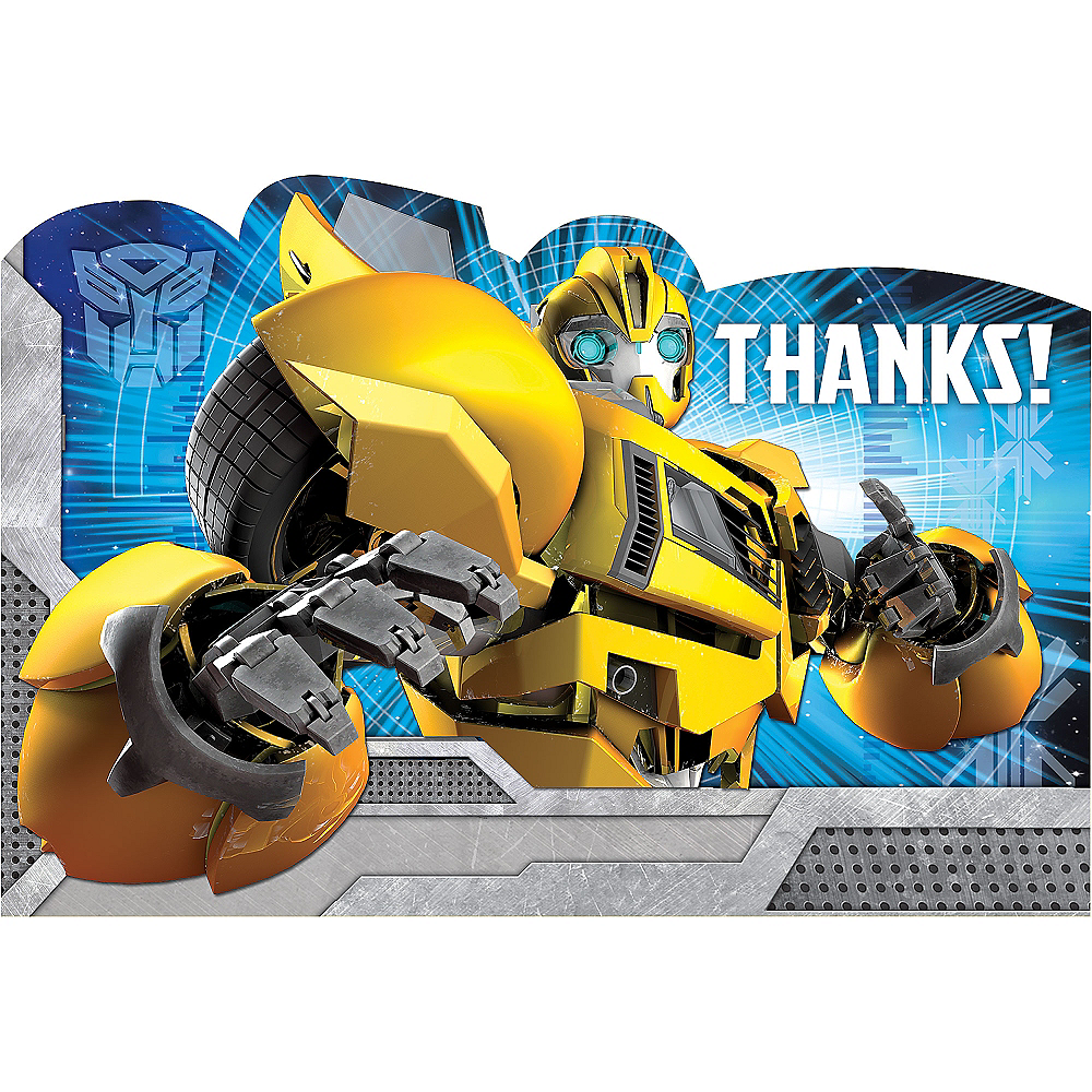 Transformers Thank You Notes 8ct Image #1