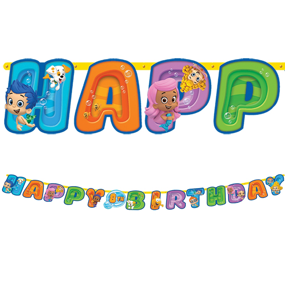 Bubble Guppies Birthday Banner 10 1/2ft | Party City Canada