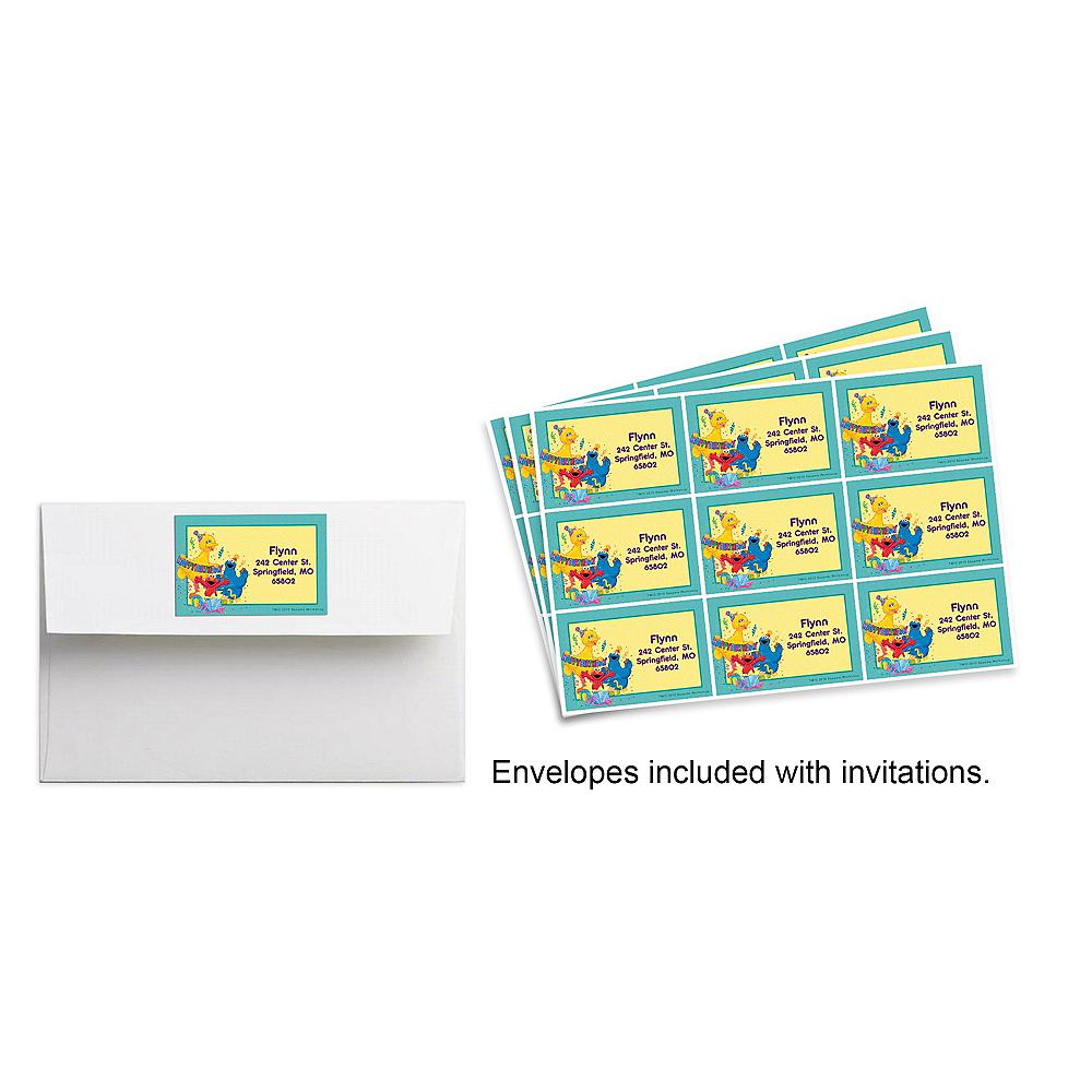 Custom Sesame Street Birthday Stickers | Party City