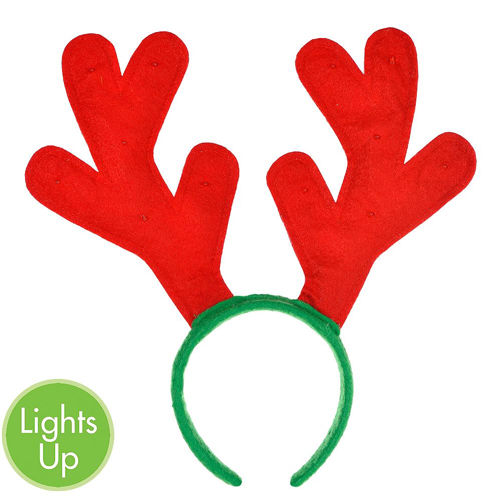 Light-Up Reindeer Antlers Headband Image #1