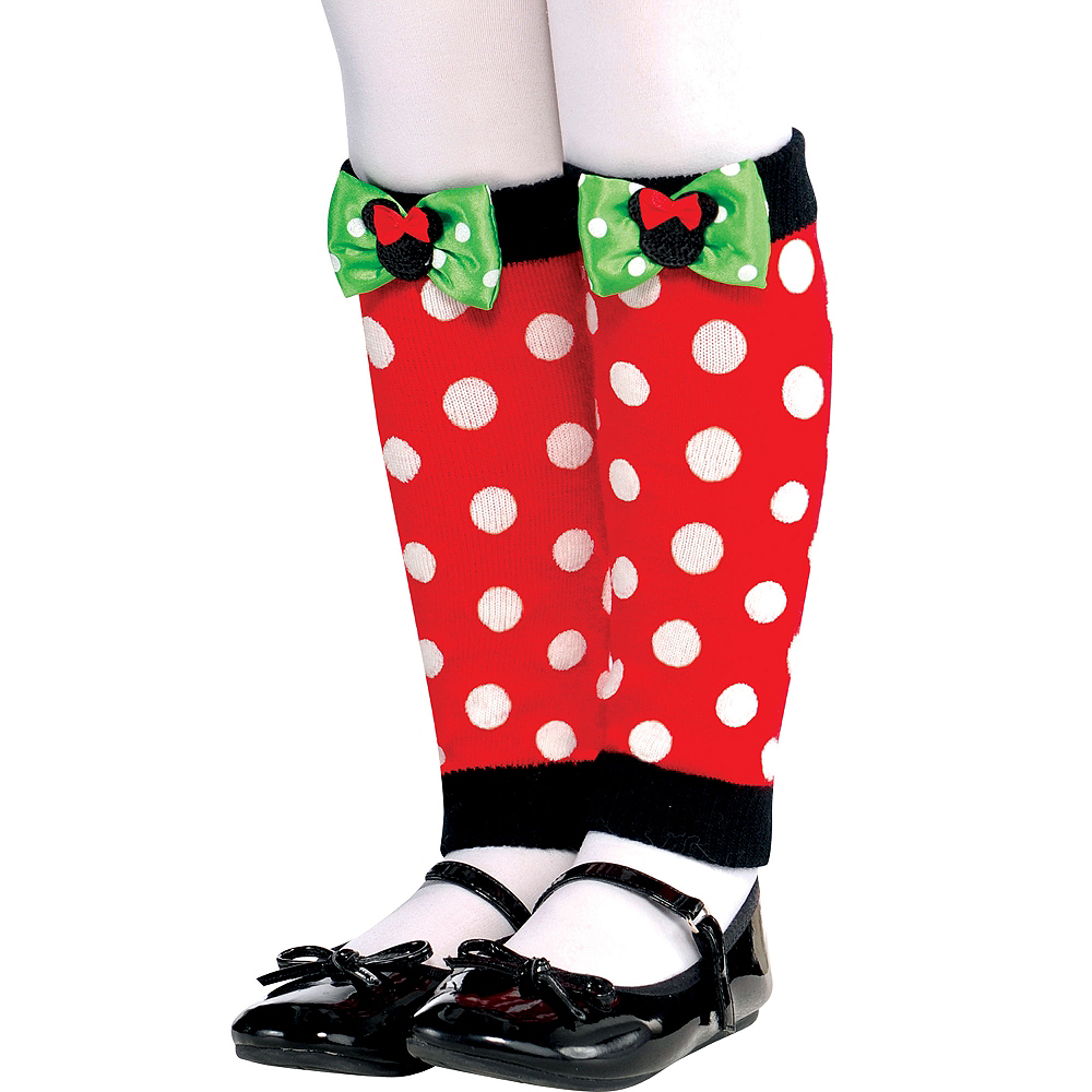 Child Holiday Minnie Mouse Leg Warmers Image #1