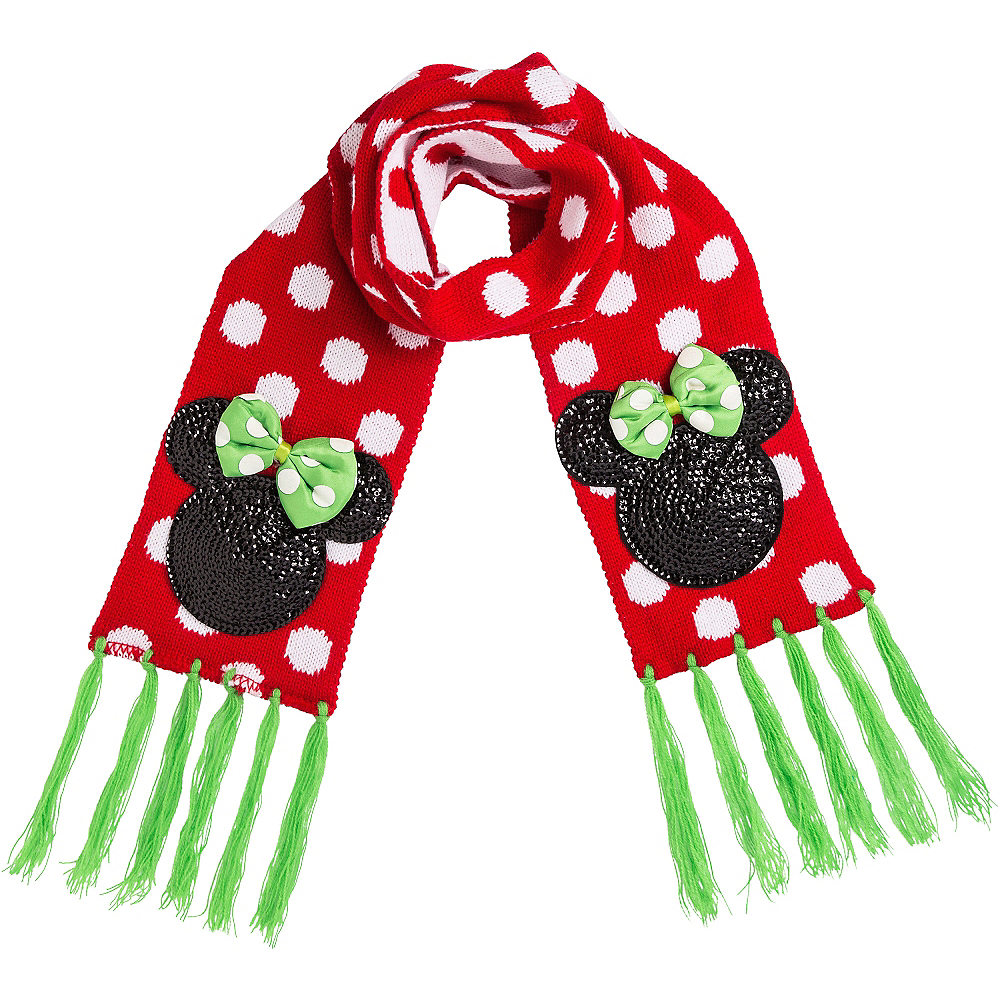 Child Holiday Minnie Mouse Scarf Image #1