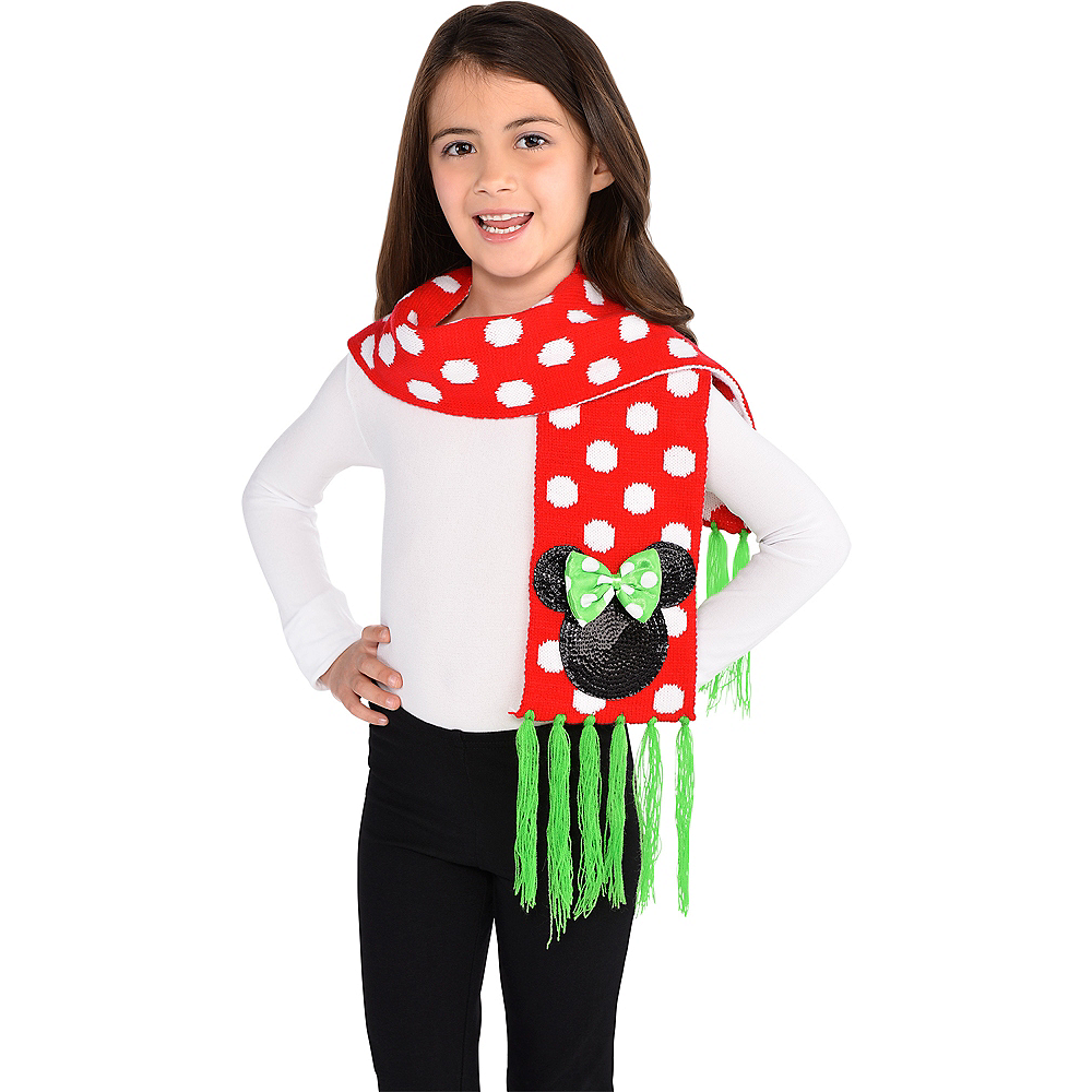 Child Holiday Minnie Mouse Scarf Image #2
