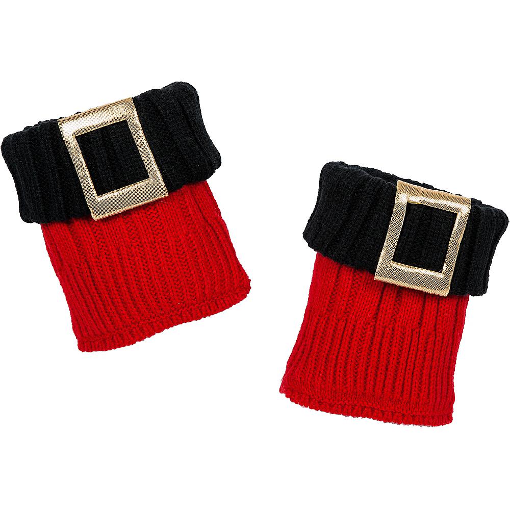 Red Santa Boot Cuffs Image #3