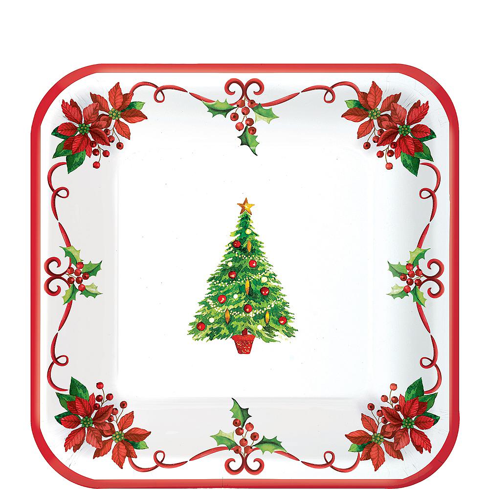 Traditional Christmas Dessert Plates 40ct Image #1