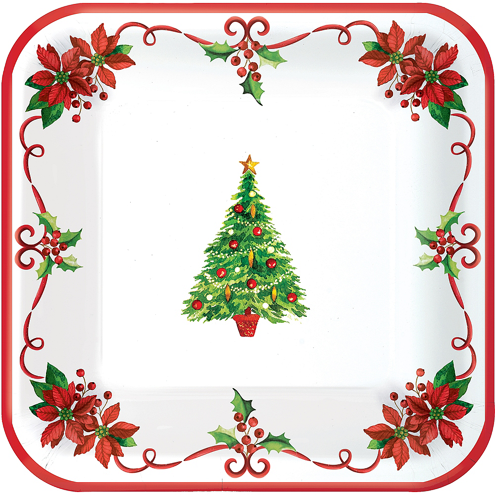 Traditional Christmas Lunch Plates 40ct Image #1