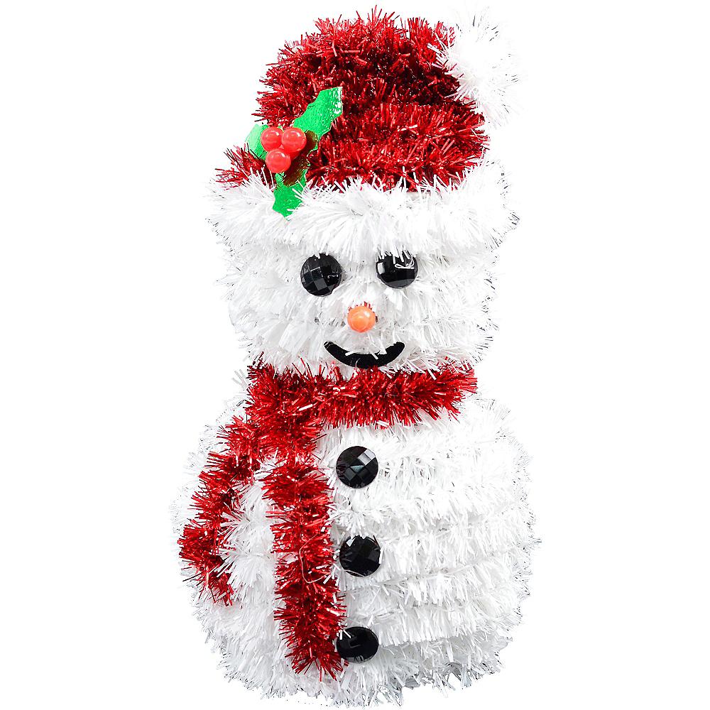 3D Tinsel Snowman Image #1