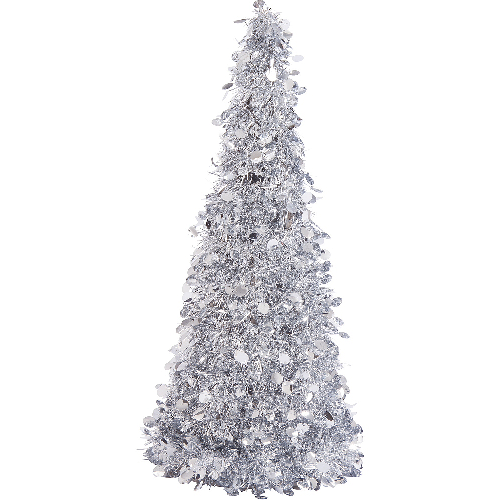 Tinsel Christmas Tree.3d Silver Tinsel Christmas Tree