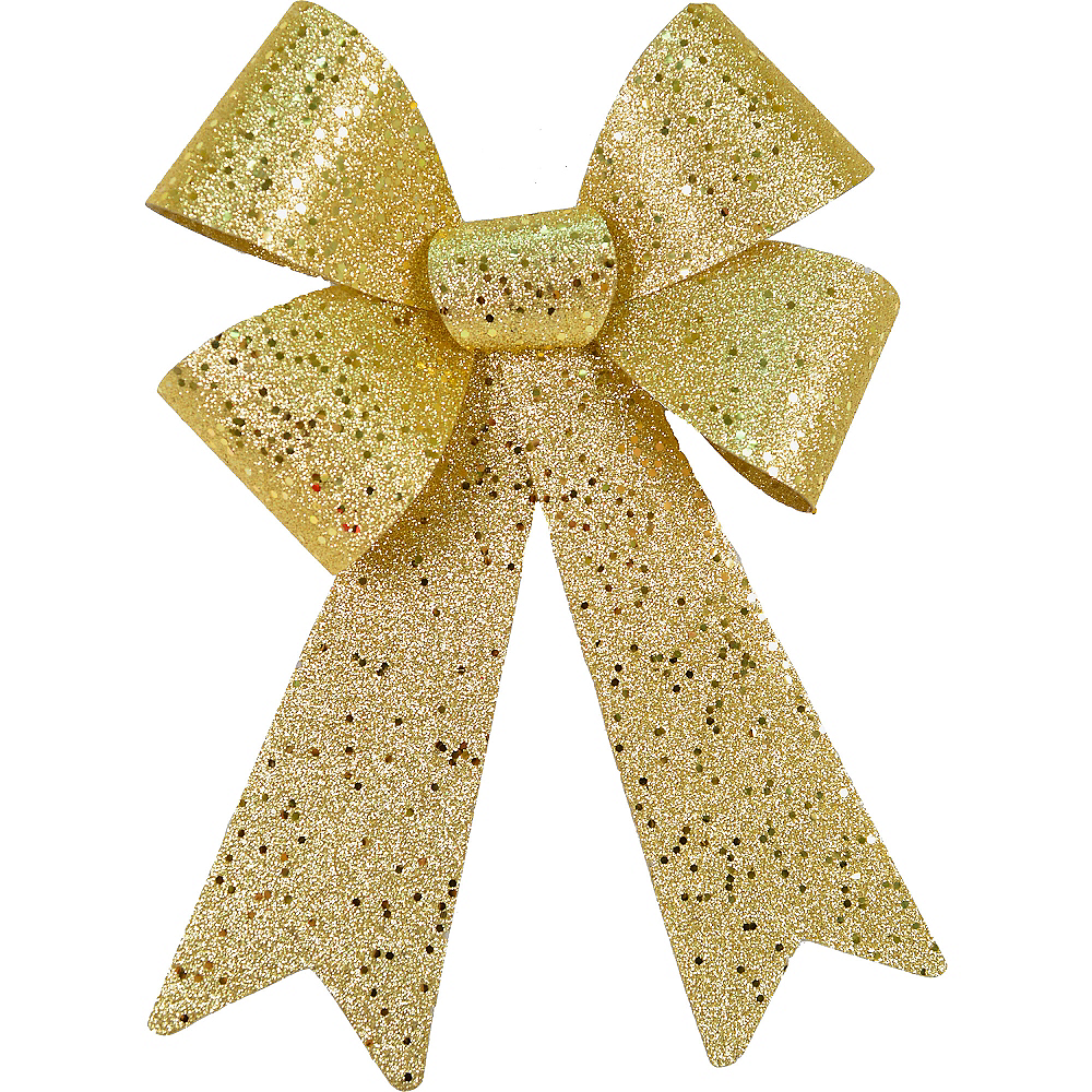 Gold Glitter Bow Image #1
