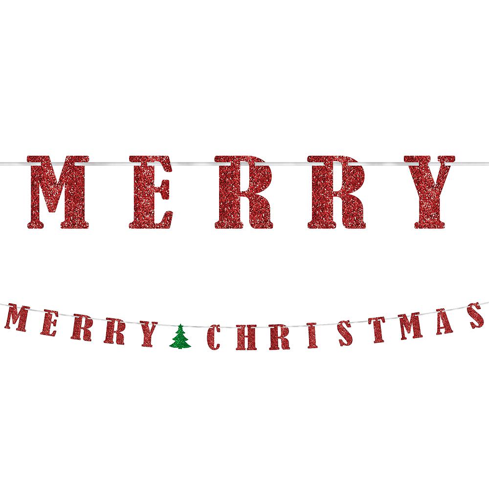 Christmas Letters.Glitter Classic Christmas Letter Banner