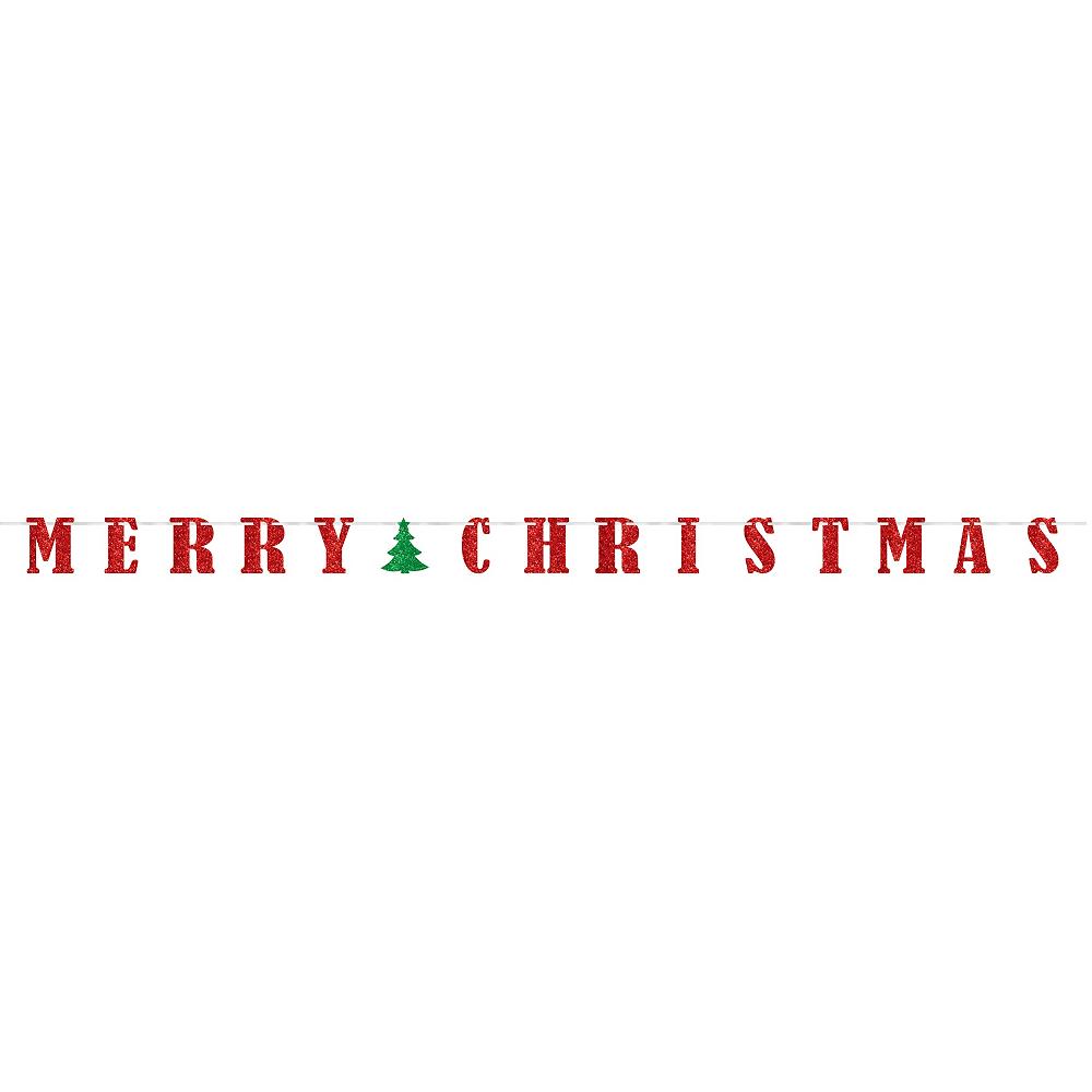 Glitter Classic Christmas Letter Banner Image #2