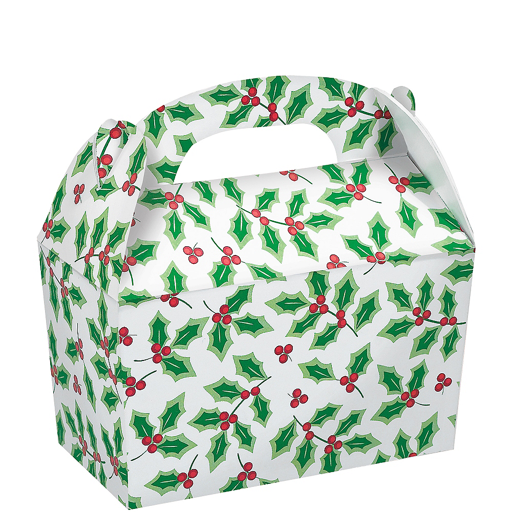 Holly Treat Boxes 5ct Image #1